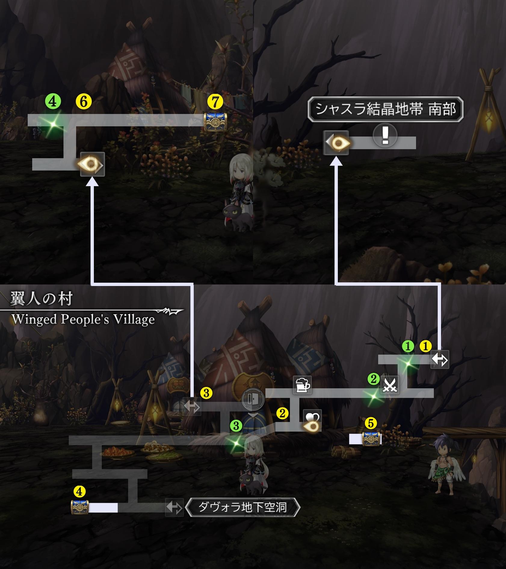 翼人の村マップ1